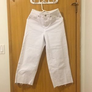 White wide jeans
